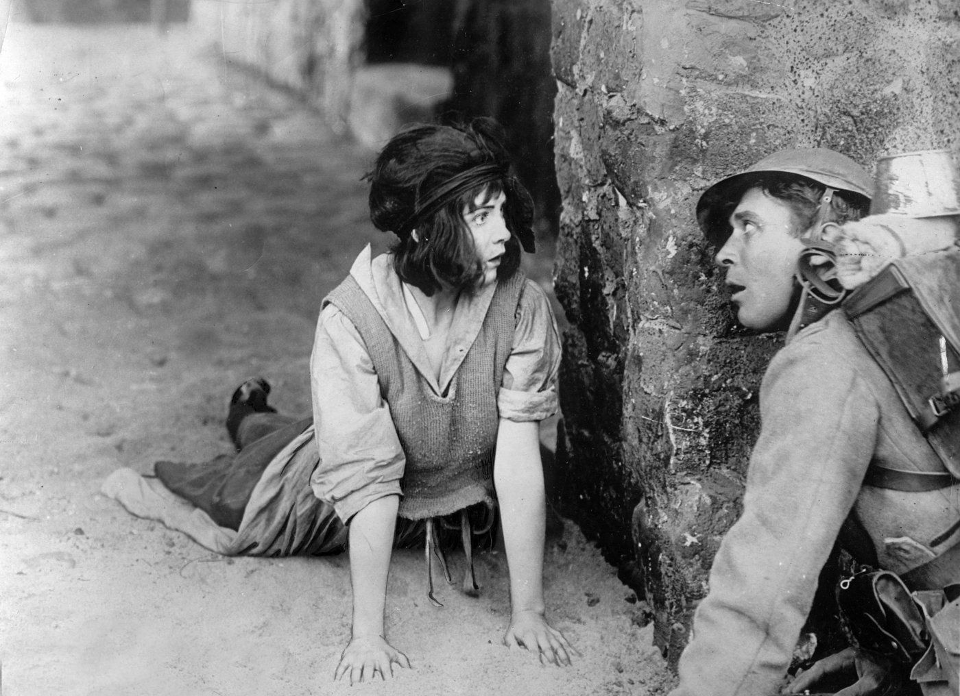 Dorothy Gish and Robert Anderson - Hearts of the World (1918) Monsieur Cuckoo